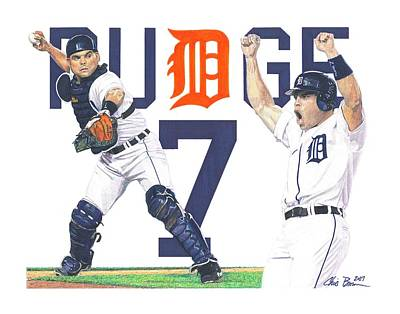 Pudge Rodriguez Drawings Posters