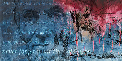 Statue Of Confederate Soldier Mixed Media Posters