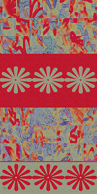 Fabric Collage Tapestries Textiles Posters