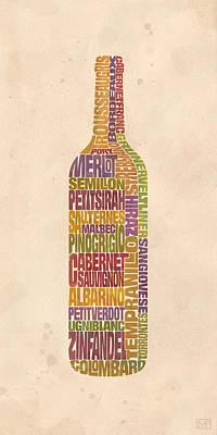 Wine Vineyard Digital Art Posters
