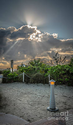 Sun Breaking Through Clouds Photographs Posters