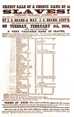 Slave Auction Notice Posters