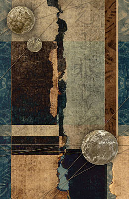 Planetary Mixed Media Posters