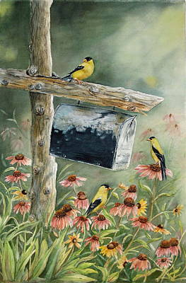 Old Fence Posts Paintings Posters