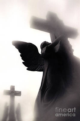 Inspirational Angel Art Of Jesus On Cross Posters