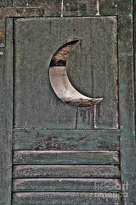 Outhouse With Moon Door Posters