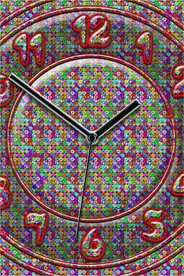 Clock Hands Mixed Media Posters