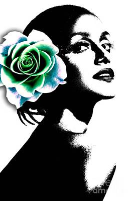 Flowers And Women Posters