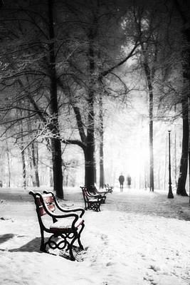 Rural Snow Scenes Digital Art Posters