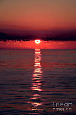 Designs Similar to Red Sunset At Smooth Sea