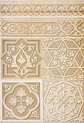 Relief Carved Florals Posters