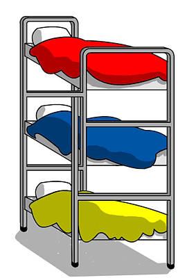 Bunk Bed Digital Art Posters