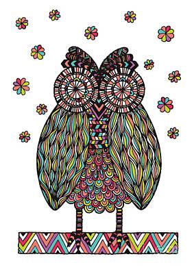 Owl Digital Art Posters