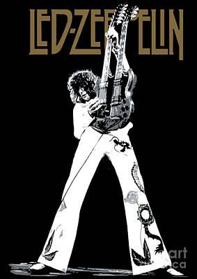 Led Zeppelin Artwork Digital Art Posters