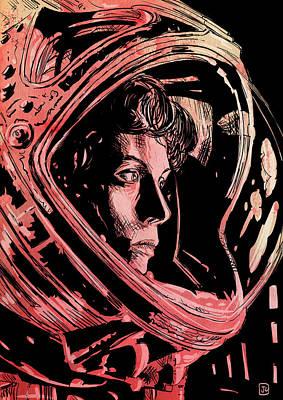 Alien Drawings Posters