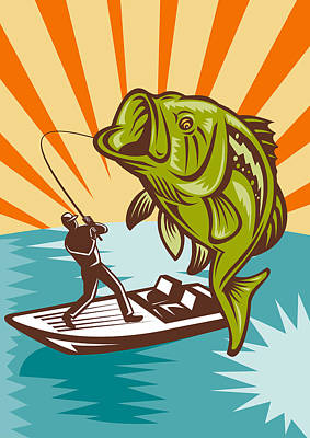 Jumping Bass Posters