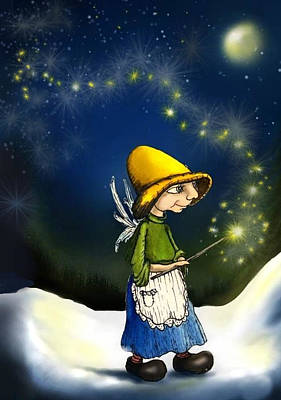 Fairy With Magic Wand Poster Posters