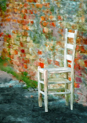 Ladderback Chair Mixed Media Posters