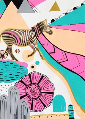 Fuschia Digital Art Posters
