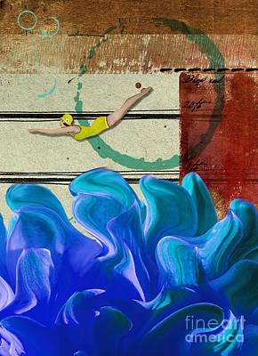 Sea Platform Mixed Media Posters