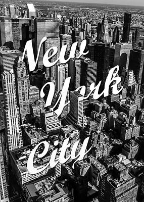 Manhattan Street Mixed Media Posters