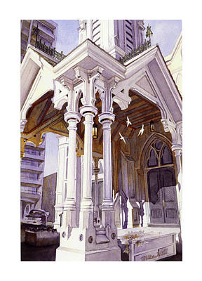 Church Pillars Paintings Posters