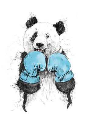 Boxer Digital Art Posters
