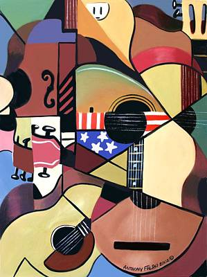 Cubist Guitar Posters