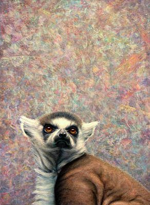 Ring-tailed Lemur Paintings Posters