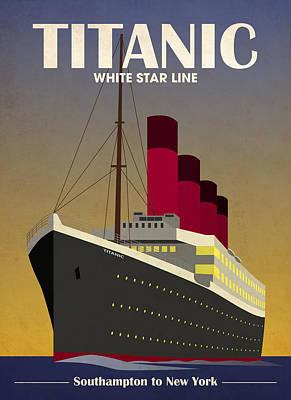 Boat Cruise Digital Art Posters