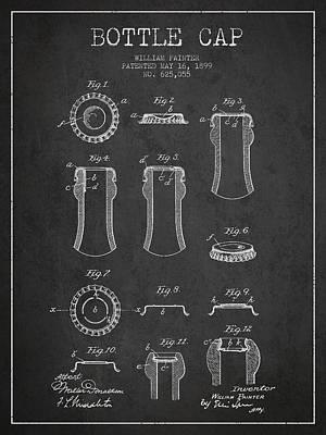 Bottle Caps Digital Art Posters