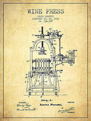 Winemaking Drawings Posters