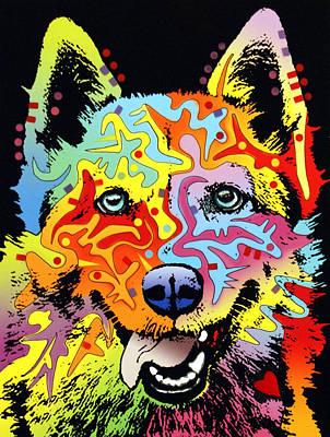 Husky Mixed Media Posters