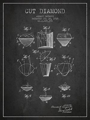 Diamond Earrings Drawings Posters