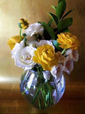 Vase Flower Watercolor Effect Posters