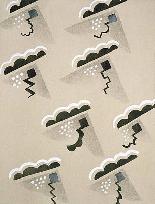 Abstract Rain Drawings Posters