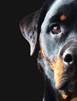 Rottweiler Puppy Posters