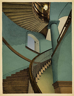 Stairs Drawings Posters