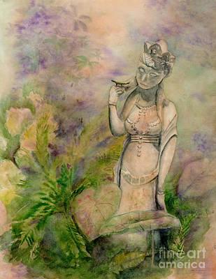 Garden Statue Of Goddess Posters