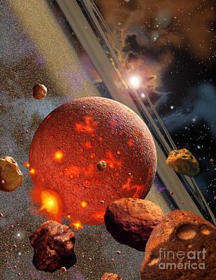 Planetoid Digital Art Posters