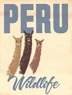 Llama Paintings Posters