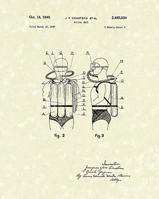 Scuba Gear Patent Drawings Posters