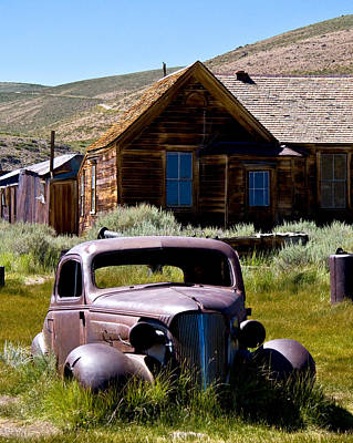 Old Car At Bodie Posters