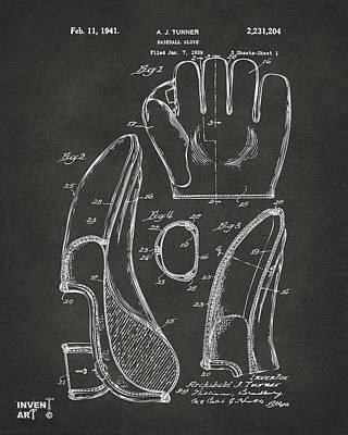 Baseball Glove Drawings Posters