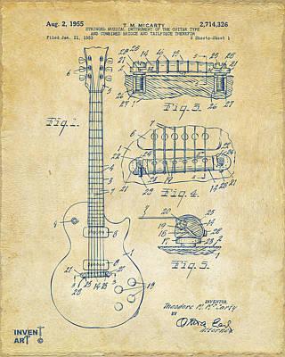 Acoustic Guitar Drawings Posters