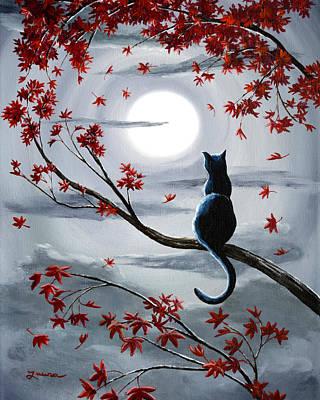 Surreal Cat Landscape Posters