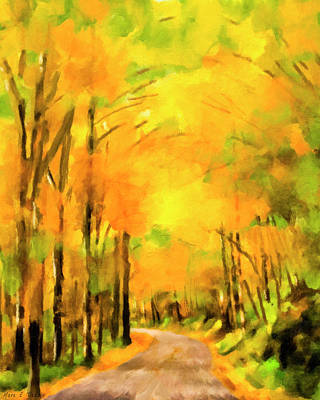 Smokey Mountain Drive Paintings Posters