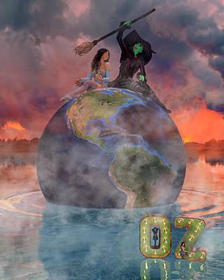 Mystic Setting Digital Art Posters
