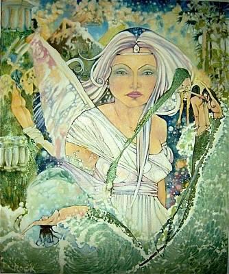 Angel Mermaids Ocean Drawings Posters