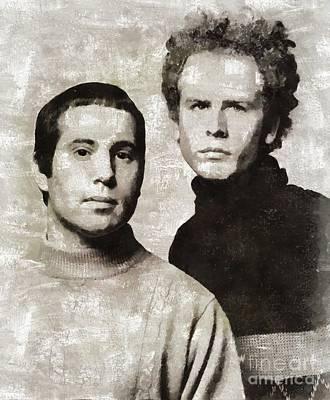 Simon And Garfunkel Paintings Posters